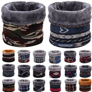 Winter Warm Brushed Knit Neck Warmer Circle Go Out Wrap Cowl Loop Snood Shawl Outdoor Ski Climbing Scarf For Men Women#p4