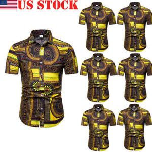 Elegante vendita calda Uomini Hawaiian Style Stampa manica corta slim fit Camicie Top Signori estate casual abbigliamento comodo M-XXXXXL
