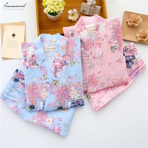 Autumn Pajamas Sets For Women Female Solid Printed Home Clothes Suit Cotton Breathable Fashion Ladies Homewear
