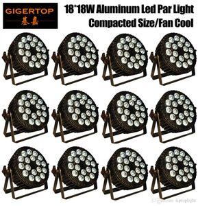 الألومنيوم LED الخفيفة الاسمية RGBW 18x18W ديسكو غسل المعدات الخفيفة 10/6 قنوات DMX 512 LED Uplights المرحلة إضاءة تأثير الضوء شحن سريع