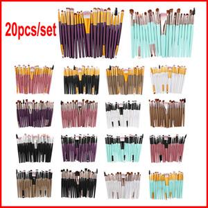 20 pçs / set Pincéis de Maquiagem Dos Olhos Escova Cosmética Profissional conjunto Com a natureza Contour Pó Cosméticos Make up Brush