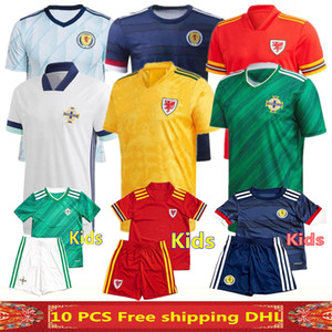 2020 Gales camisetas de fútbol más nueva calidad tailandesa 2020 Irlanda del Norte hogar lejos HOMBRE KIDS 2020 camiseta de fútbol de Escocia