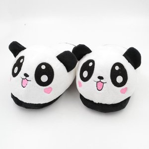 Millffy simpatico panda animale bella casa peluche pantofola adulti pantofole divertenti panda pantofole scarpe indoor dolci scarpe casa