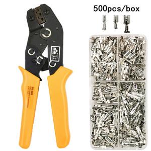 FARBEN SN-48B Draht-Klemmzange 0.5-2.5mm2 20-13AWG Präzision Kiefer mit 500pcs / lot TAB 2.8 4.8 Terminals Sets Werkzeuge