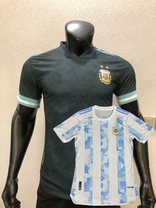 20 21 versión del jersey de fútbol Argentina Jugador hogar lejos del equipo nacional Messi Dybala 2020 2021 camiseta de fútbol jugador