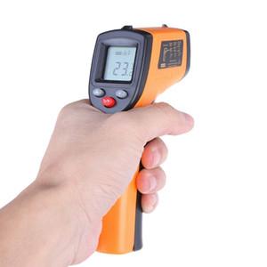 Цифровой GM320 Инфракрасный термометр промышленный бесконтактный измеритель температуры пирометр ИК точечный пистолет -50~380 градусов