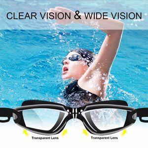 Wholesale-Swimming Goggles With Hat +Ear Plug +Nose Clip +Case ,Waterproof Swim Glasses Anti -Fog Uv Professional Sport Swim Eyewear Suit