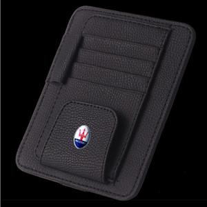 1 Pcs Card Lunettes Bill Pen Holder clip voiture accessoires Sun Visor Lunettes de soleil couverture pour Maserati 2 Car Styling
