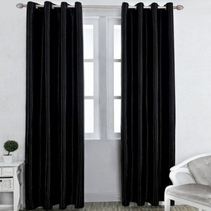 2019 Pure Color High Shading Rate 50% Curtains Living Room Tube Hole Type Classic
