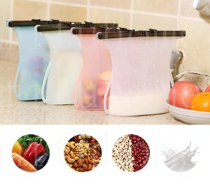 Home Silicone Food Preservation Bag Reusable Sealing Storage Container Food Fresh Bags Kitchen Drink Fruit Vegetables Bags
