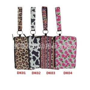 Водонепроницаемый неопрена Макияж сумки Цветок Leopard Печатные Designs Косметические контейнеры Путешествуя Leopard туалетных сумка Новое прибытие Design 6 5n