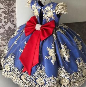 2020new designer children's dress princess skirt girl's puffy skirt little flower children's foreign wedding dress host noble piano performa