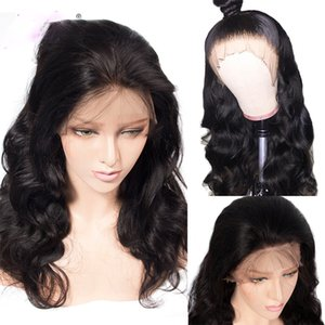 Lace Front Human Hair Wigs for black women 13*4 body wave Pre Plucked With Baby Hair 150 Density natural color