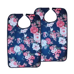 2pcs Adult Bibs for Eating Women Men, Absorbent Waterproof Clothing Protector for Men, Women, Elderly Disability Aid
