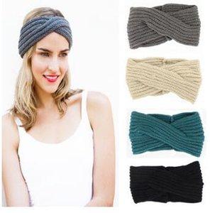 60 unids / lote Charlotte In Paris Corn Kernels Cross Warmth Headbands Multi Woolen Knitting Headband Accesorios para el cabello Herramientas HA248