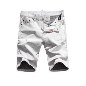 2020 Itália desenhador de moda estilo mens verão ocasional shorts jeans marca de jeans bordado Hip Buracos Pop Jean