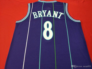 Vintage mamba out K B real embroidery Basketball Men college jersey Size S-XXL or custom any name or number jersey