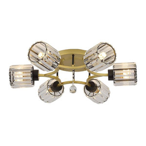 American crystal dining room lamp simple modern ceiling lamp warm romantic Nordic living room lamp