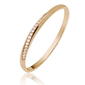 MGFam (79BA) Moda gioielli braccialetto braccialetto per le donne 18k placcato oro Zircone artificiale nessuna pelle allergia nichel libero