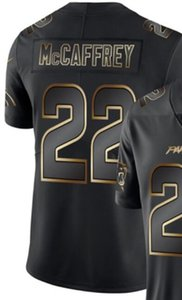 Mens Каролина 59 22 1 Джерси рубашки Vapor Limited Black Golden Джерси Американский футбол Джерси 00
