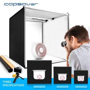 capsaver Lightbox Складного Photo Studio Фотография Box Portable Фото Палатка 40см 60см 80см Light Box для украшения одежды съемки T200610