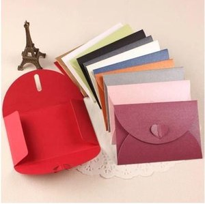 Vintage gilt decorated Love buckle Pearl paper blank envelopes Multicolor Business specialty 12 color 60pcs set  free shipping