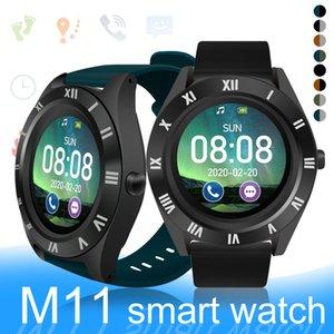 M11 relógio inteligente grande tela redonda Cartão SIM Smartwatches slot inteligente Pulseira de Fitness Bluetooth Sports Watch Monitor de sono com caixa