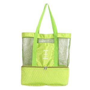 Nuovo riutilizzabili Shopping Bags Eco pieghevole impermeabile Borse picnic pranzo Net Bag Storaging Drink di grande capienza