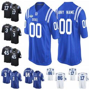 Duke Blue Devils Трикотажные мужские Крис Katrenick Джерси Quentin Harris Бриттен Браун Деон Джексон Американский футбол Джерси Пользовательские прошитой