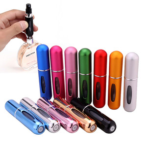 5ml perfume bottle, spray bottle, makeup spray bottle, self pump, bottom rechargeable Aluminum Mini Perfume, bottling.