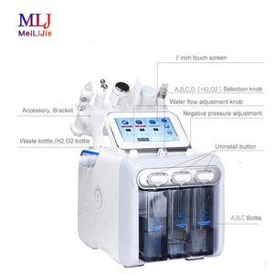 Hydrafacial 6in1 Küçük Kabarcık Dermabrazyon Cilt Bakım Araçları BIO Ultrasonik RF Hydra Derin Yüz Gözenek Temizleyici Yüz Masajı güzellik Makinası