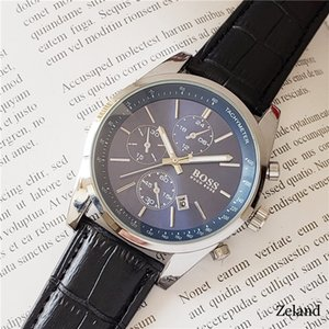 novo chefe de luxo relógio de moda de esportes militares dos homens de couro impermeável relógio de quartzo homens Mens relógios Montre de luxe Reloj Hombre