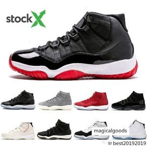 New Mens 11 Basketball shoes 11s Jumpman Bred Concord 45 Space Jam Cap and Gown Men Designer Sneakers Gamma Blue Low women Trainers
