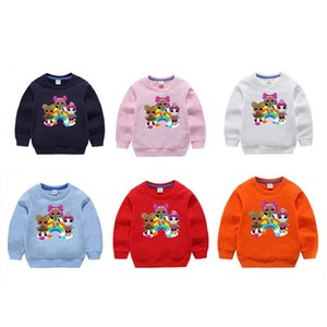 11style Cartoon Doll Girls Boy Hoodies Autumn Spring Kids Long Sleeve Sweatshirts Children Outwear Pullover Top Clothing DHL free