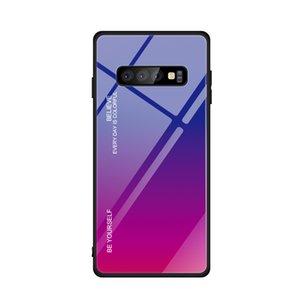 Gradienten aus gehärtetem Glas Fall für Samsung Galaxy A10 A20 A30 A40 A50 A60 A70 A80 M10 M20 M30 A6 A6 PLUS 50pcs / lot