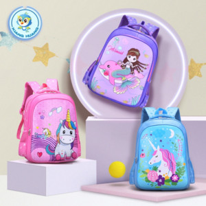 Children's breathable for boys and girls Grade 1-3 cartoon cute schoolbag for pupils schoolbag