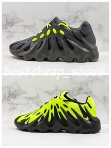 2019 Kanye West 451 Wave Runner Volcanic Volt Black Mens Running Shoes For Men 451s Sports Sneaker ss