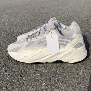 2018 Lanzamiento 700 V2 Estático Hombre y Mujer Zapatillas de deporte blancas 3M Calzado deportivo con caja EF2829
