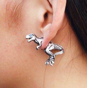 Korean Version of Harajuku Three-dimensional Small Animal Dinosaur Fashion Personality Pierced Earrings