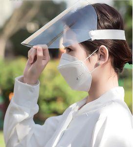 Pantalla de plástico careta de protección transparente Aislamiento mascarilla facial anti-vaho máscaras protectoras guardia salpicadura de aceite de cocinar el sombrero escudo de polvo