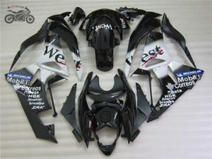 Kit de justo personalizado gratuito para Kawasaki ZX6R 09 10 11 12 ZX-6R 2009 - 2012 ZX636 Black West Motorcycle Fairings
