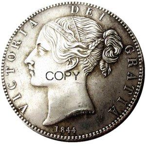 İngiltere A Great Britain Büyük Britanya QUEEN VICTORIA Taç Gümüş Kaplama Kopya Coin 4adet (1844 1845 1847 1839) kümesi
