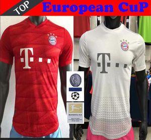 Player in Version 19 20 Bayern München JAMES Fußball Trikot 2019 2020 LEWANDOWSKI MULLER Trikot Hummels Fußballhemd Männer Uniformen
