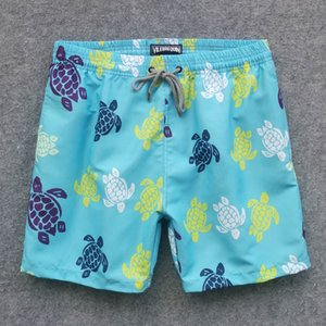 Designer Mens Summer Hot Beach Shorts Board Shorts Sea Turtle Printed Swimwear Quick Dry Beach Pants 6 Colors M-2XL
