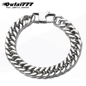 oulai777 Küba bilezik erkek aksesuarları \ erkekler bilezik paslanmaz çelik parlatma el zincir toptan fasion takı x27s mens