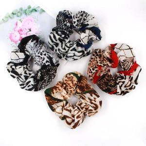 Bandas da manta Leopard 134Colors Lady menina do cabelo Scrunchy Vintage Scrunchies Dot floral Hairband Cabelo Elastic Mulheres rabo de cavalo titulares GGA3229-3