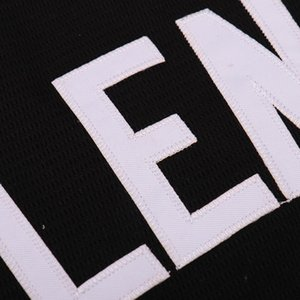 Jersey di ritorno al passato Jersey degli uomini di baseball Sette Lions 19 DJ Illenium nero bianco cucito modo di trasporto