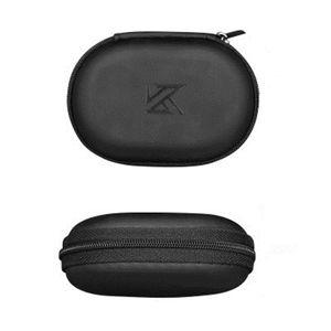 Pelle KZ cassa dell'unità di elaborazione cuffia auricolare di immagazzinaggio del sacchetto auricolare Pouch Holder bagagli di trasporto rigida Borsa di sicurezza per le cuffie KZ