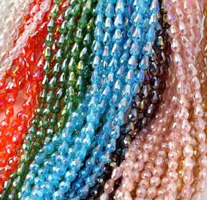 6x8mm Colorido AB Lágrimas de cristal talladas en forma de lágrima facetadas para collar pulsera pendientes DIY FABRICACIÓN