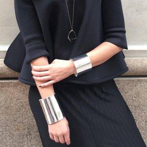 Kadınlar Gümüş 5 Renk seç Takı Marka Tasarımcı El yapımı Ayarlanabilir Bilezik İçin 2019 Yeni Geometrik Deri Bilezikler